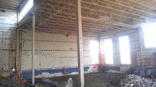 Asbestos removal from massive pool room at The Ram