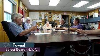 Pownal Select Board // 08/12/21