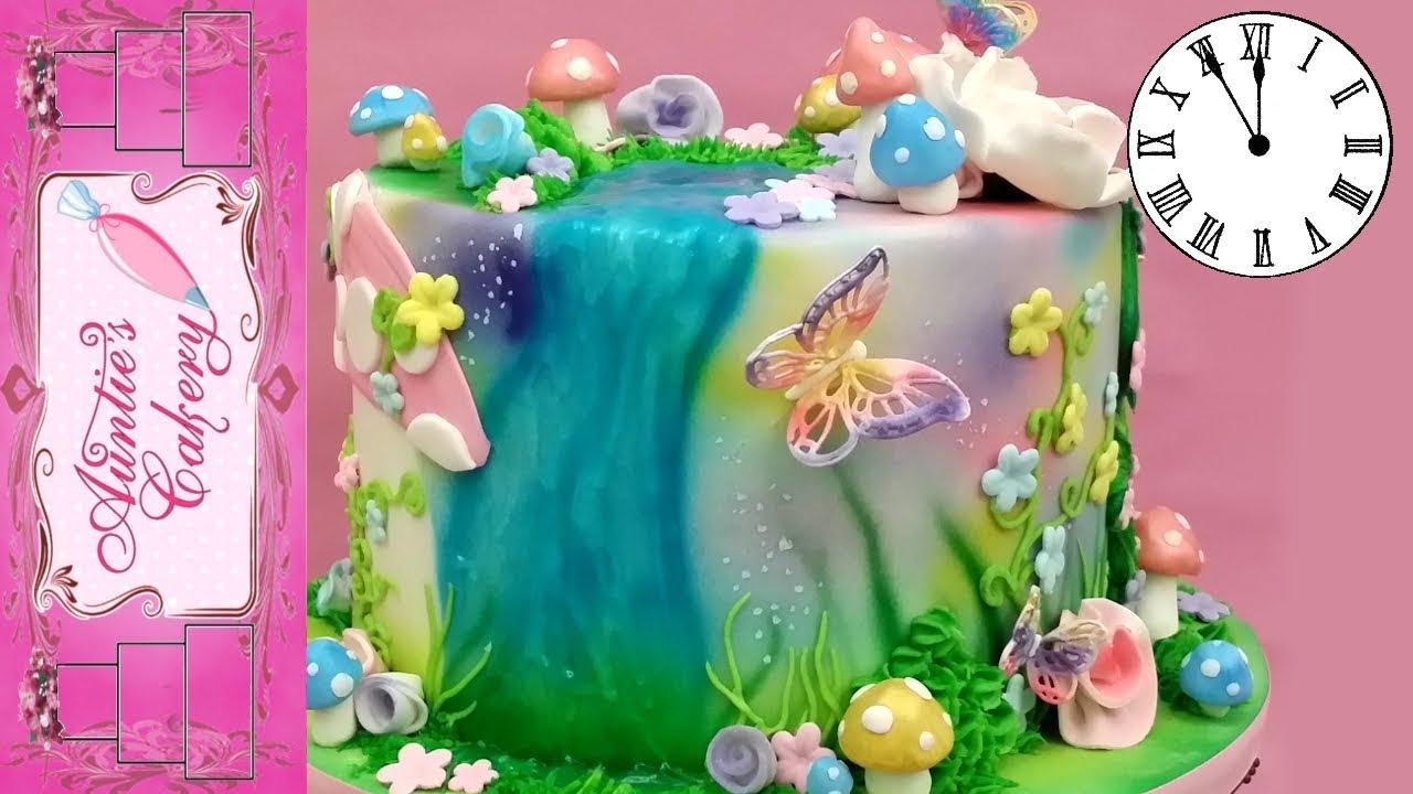 Fairy Garden Cake Time Lapse Tutorial Youtube