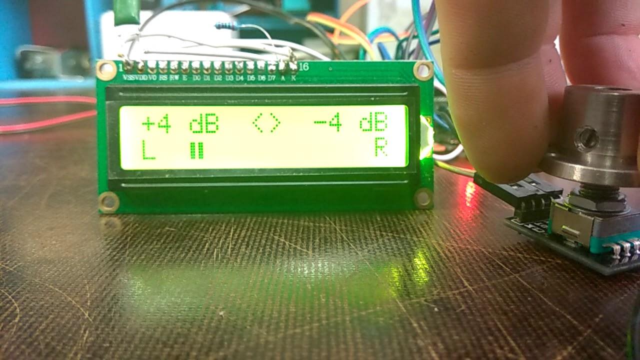 Аудиопроцессор TDA7468D на Arduino