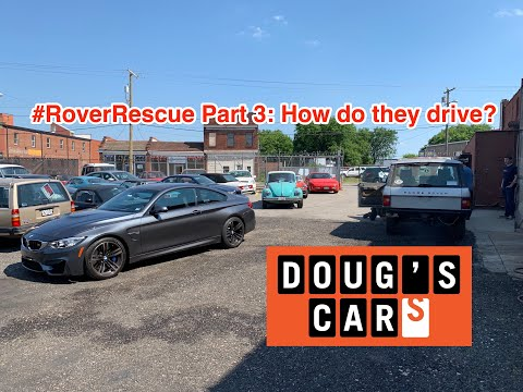#RoverRescue Part 3: How do they drive? Driving the abandoned Range Rover Classics.