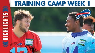 Buffalo Bills Highlights | Training Camp Week 1