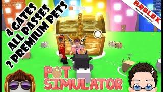Pet Simulator - 4 Gates, All Passes, and 2 Premium Pets