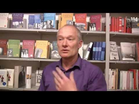 Holger Schwab über seine Arbeit und seine Begeisterung für Alfred Döblin (www.hundertvierzehn.de)
