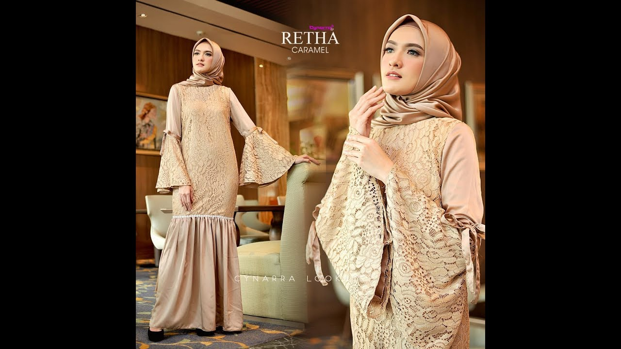 Model Gamis Brokat Terbaru 8  Baju Kurung Modern  Dress Lace