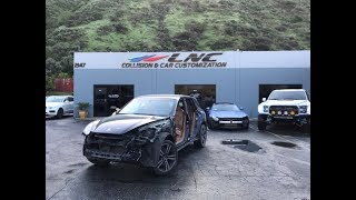 PORSCHE CAYENNE GETS IN A SIDE CRASH, REPAIR, BODYWORK AND PAINT