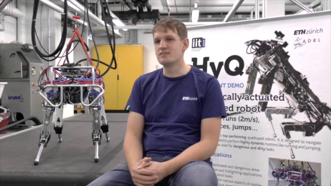 Phd Student Michael Neunert Discusses His Career In Robotics Youtube