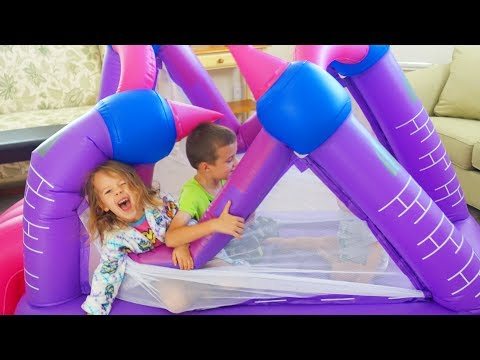 Kids Breaking Our Bounce House!!! And Kids Learning Letters