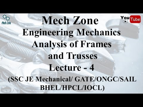 Engineering Mechanics Lecture 4: Introduction to frames and