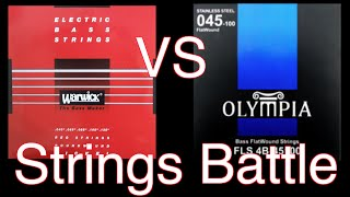 Warwick red strings RoundWound vs Olympia FlatWound bass strings battle // Обзор басовых струн