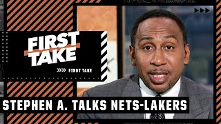 Stephen A. would take the Nets over the Lakers in a Finals matchup