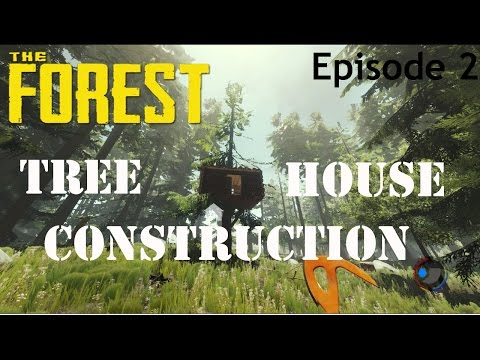 The Forest v.17 Episode 2  Tree Fort & Bow Construction #Safe