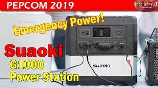 Suaoki G1000 Portable Power Station @Pepcom 2019 (Sept)