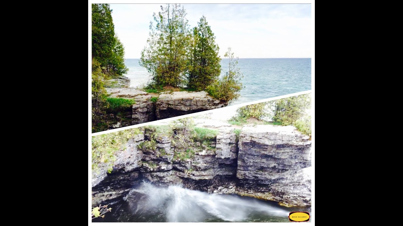 Places To Visit On Lake Michigan In Wisconsin: Cave Point County Park Door County Lake Michigan Wisconsin