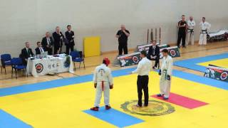 Taekwondo Green belt sparring +75kg final ITF Cup Ireland 2015