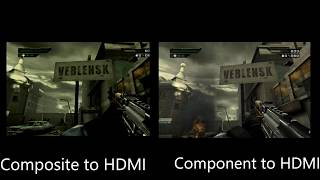 AV Composite HDMI VS Component HDMI using the PS2