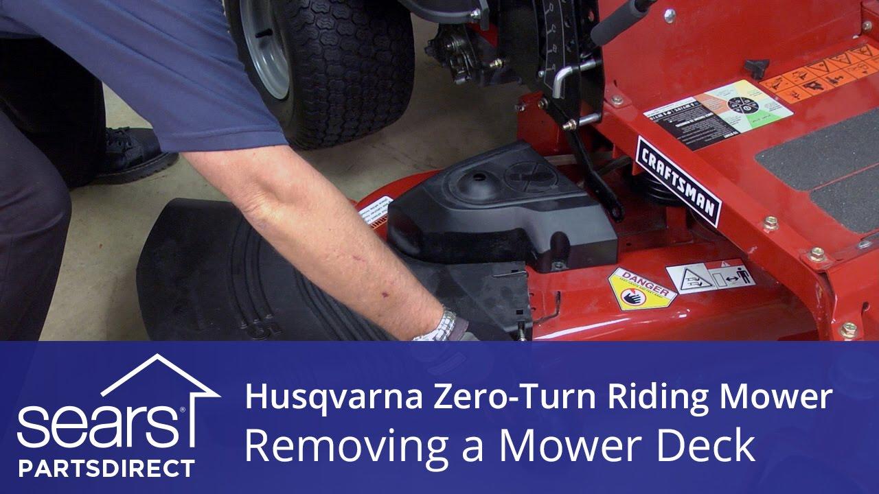 how to remove the mower deck on a husqvarna zero turn riding mower [ 1280 x 720 Pixel ]