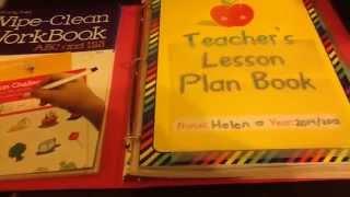 Vlogust Day 21   Preschool @ Home / Homeschool Lesson Plan Binder   Crafts   Tips / Ideas