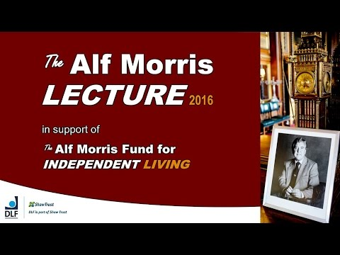 Alf Morris Lecture 2016