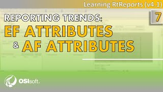OSIsoft: RtReports Tutorial - Reporting-Trends: EF Attribute und AF-Attribute