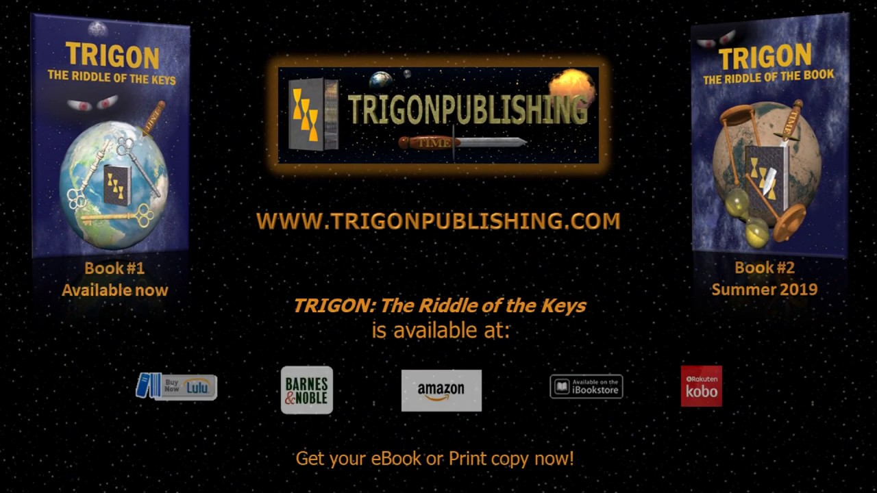 'TRIGON: The Riddle of the Keys' a young adult fiction, fantasy novel by  M E Robling - eBook & Print