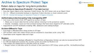 IBM Spectrum Protect Plus 10.1.4 Archive to Tape on Spectrum Protect – Demo