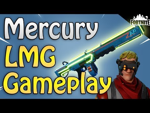 FORTNITE - New Neon Mercury LMG! (Bullet Storm Jonesy Gameplay And Event Store Items)