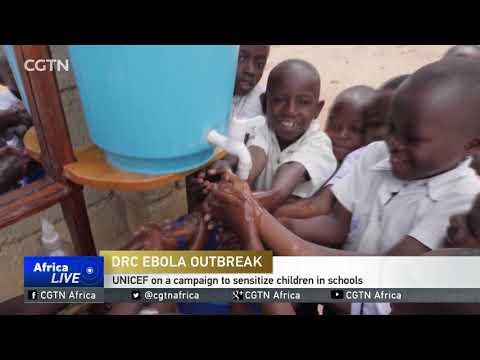 UNICEF on a Ebola campaign to sensitize DRC children in schools