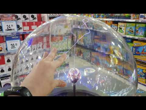 Playing With A Plasma Ball @ Toys