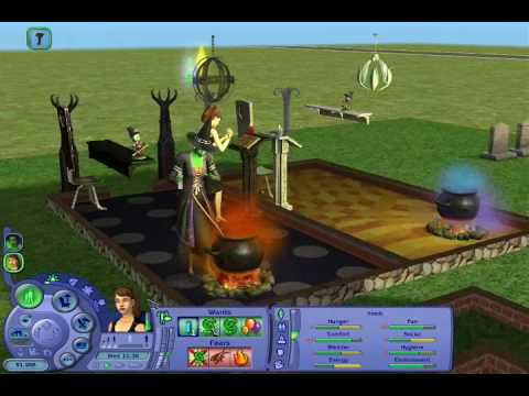 The Sims 2 Apartment life -  Wicked Witch Traping And Torturing A Girl With Black Magical Spells!