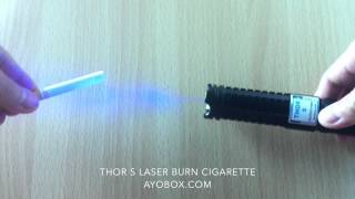 1w (1000mw) Thor S Blue Laser Pointer Burn Cigarette