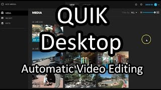 Quik Desktop Tutorial  - Automatic GoPro Video Editing