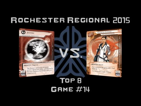 Netrunner Rochester Regionals 2015 - Finals Game 1 - Replicating Perfection v. Valencia