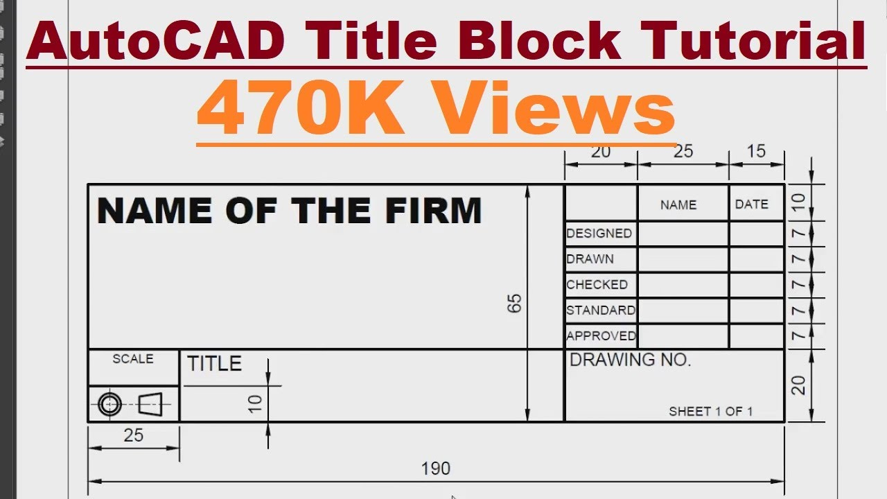 dwg title block templates - autocad title block creation tutorial complete youtube