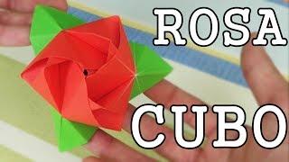 Rosa Cubo - Cubo Rosa - Origami