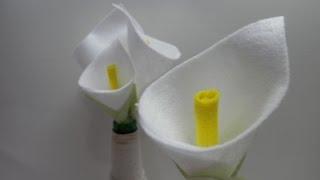 Flor Copo de leite em feltro – Artesanato Passo a passo por Alinne Marques