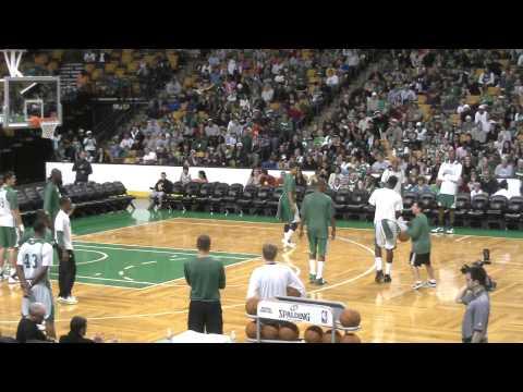Celtics open practice: Heat offensive sets
