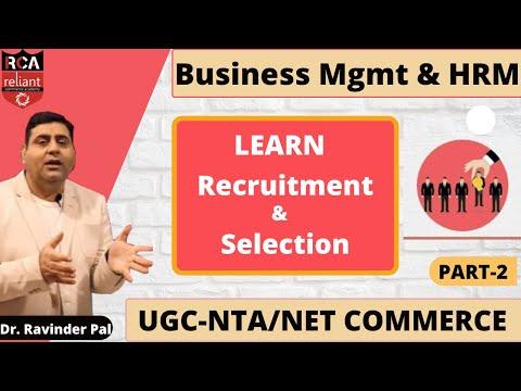 Part -2 || Recruitment & Selection || Business Management & HRM || UGC-NTA/NET Commerce