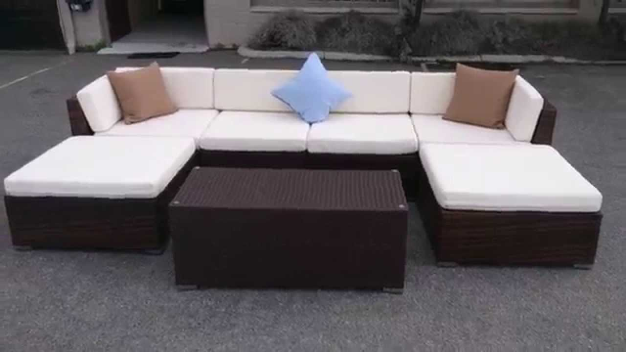 Attractive Barcelona Outdoor Sectional Sofa Set   Wicker   YouTube