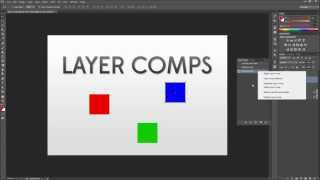 Photoshop Tutorial: Using Layer Comps to Make Different Layouts  -HD-