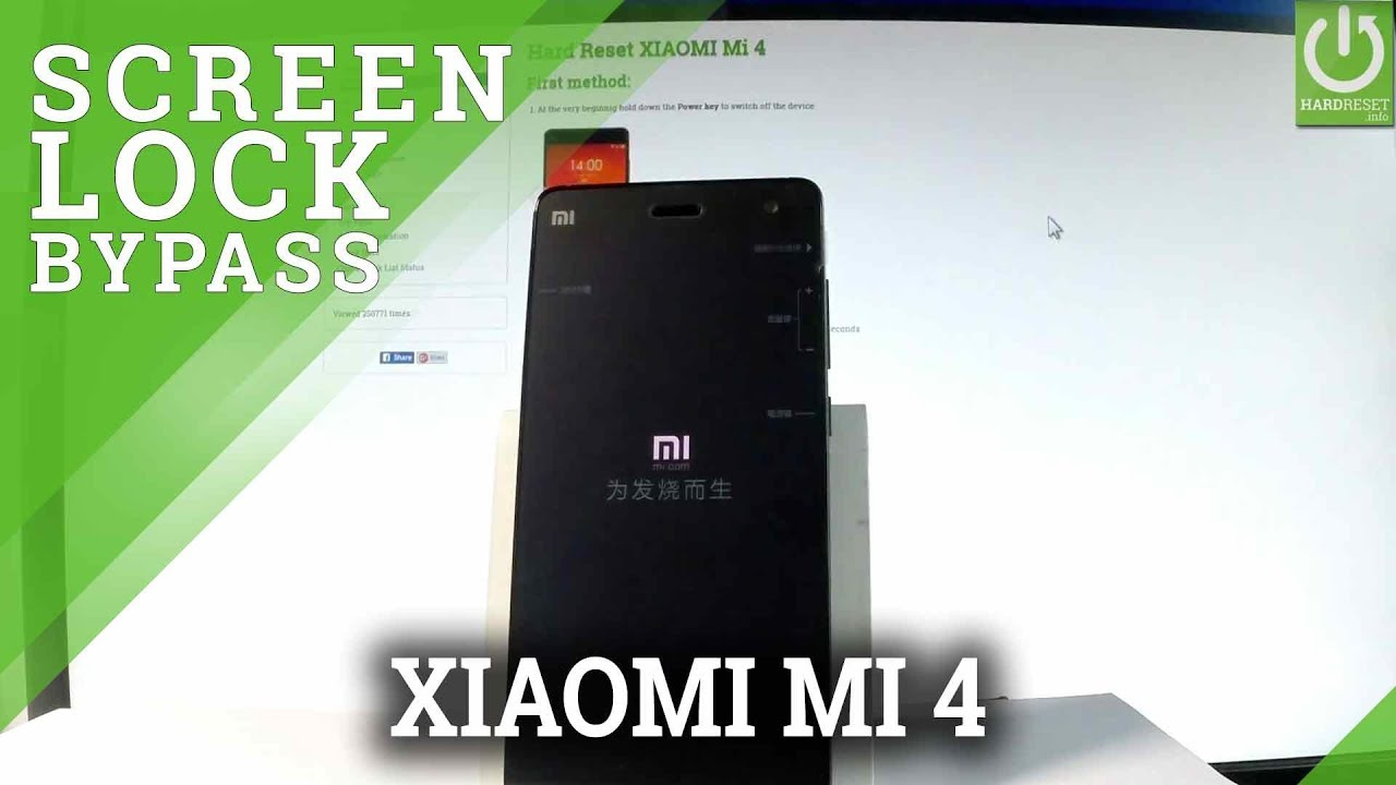 How to Bypass Screen Lock in XIAOMI Mi 4 - Hard Reset / Restore