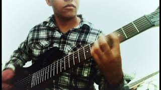 now..drop g tuning..first time on 7 string guitar..