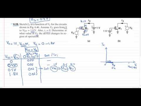 MOSFET Practice Problem Solving
