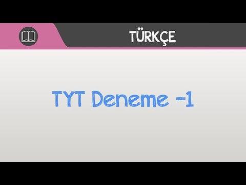 TYT Türkçe Deneme -1 Soru Çözümleri