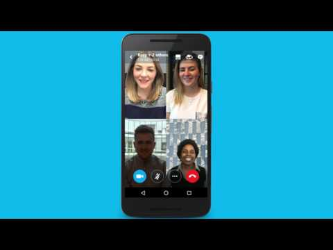 How to make a group video call on Skype for Android