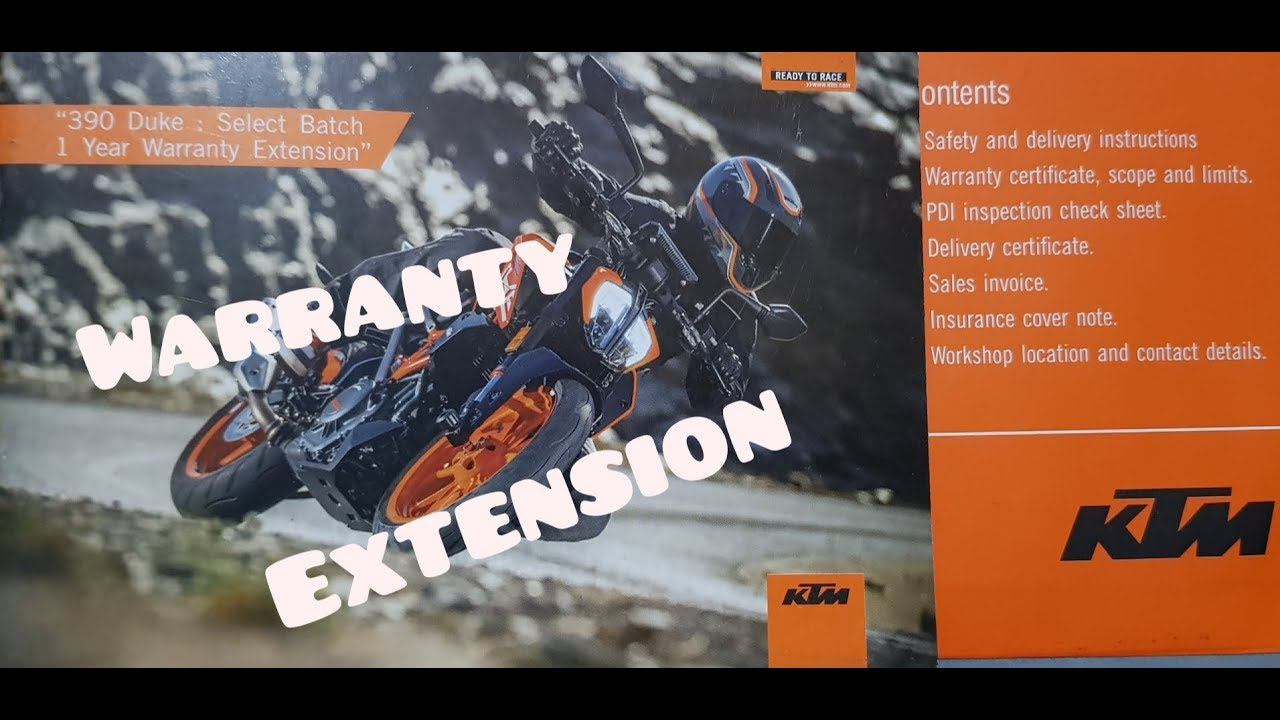 KTM Extended Warranty | KTM | KTM DUKE 390 250 200 |KTM RC 390 250 200