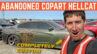 Finding An ABANDONED Hellcat Charger Build At COPART With @LegitStreetCars