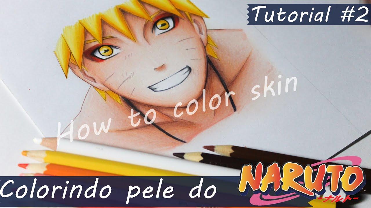Colorindo Pele Do Naruto How To Color Skin Naruto Youtube