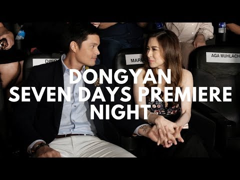Dongyan Dingdong Dantes & Marian Rivera at the Seven Sundays Premiere Night