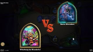 Hearthstone: Heroic Baron Rivendare with Whizbang the Wonderful (Rise of Shadows)
